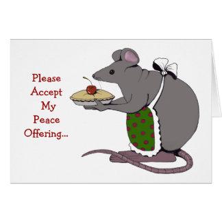 Desculpa: Pesaroso: Oferecimento de paz: Rato, Cartão Comemorativo