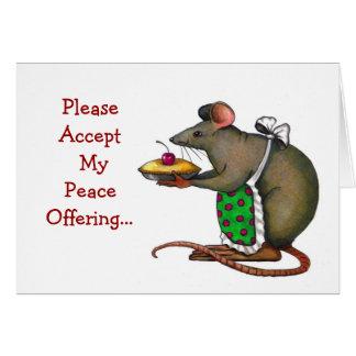 Desculpa: Pesaroso: Oferecimento de paz: Sra. Cartão Comemorativo
