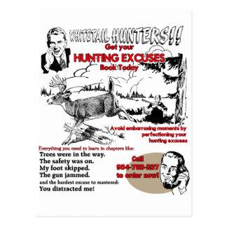 desculpas do caçador do vintage cartão postal