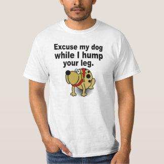 Desculpe-me cão camiseta