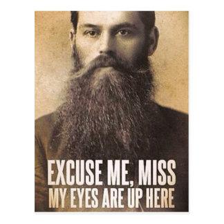 Desculpe-me senhorita, amantes da barba cartão postal