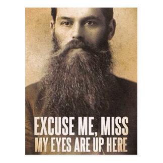 Desculpe-me senhorita, para amantes da barba cartão postal