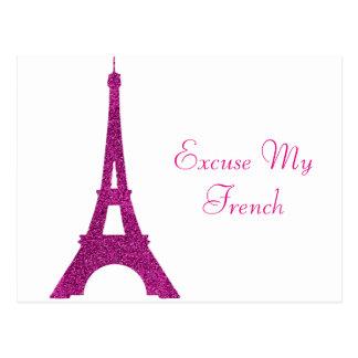 Desculpe meu francês cartão postal