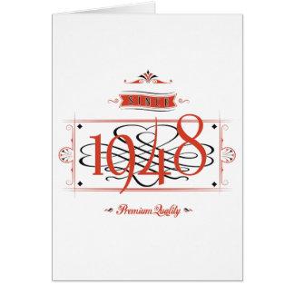 Desde 1948 (Red&Black) Cartão Comemorativo