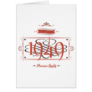 Desde 1949 (Red&Black) Cartão Comemorativo