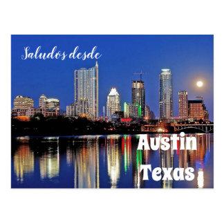 Desde Austin Texas de Saludos - cartão