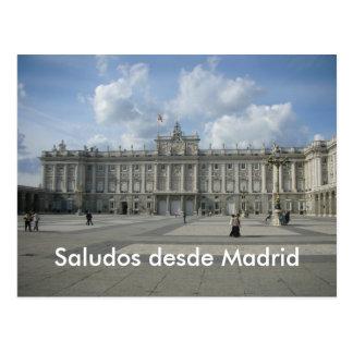 Desde Madrid de Saludos Cartao Postal