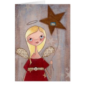 Desejando a estrela - cartão