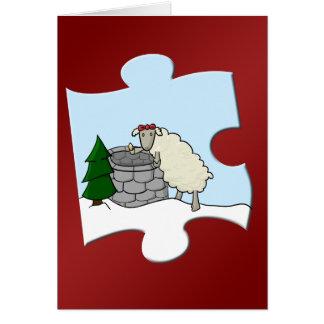 Desejando a parte da ovelha cartão comemorativo