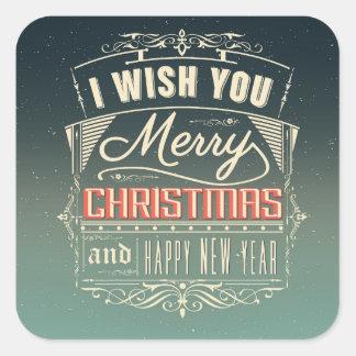 Desejando etiquetas do Feliz Natal