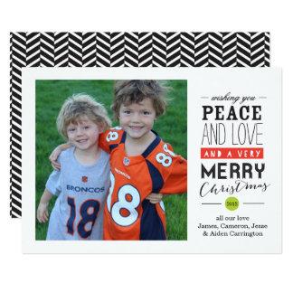 Desejando lhe o cartão com fotos do feriado convite 12.7 x 17.78cm