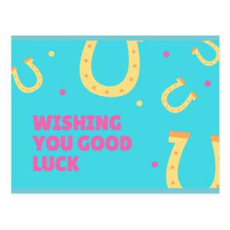 Desejando lhe o cartão da boa sorte