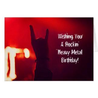 Desejando lhe o cartão de aniversário da rocha do