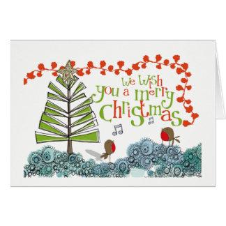 Desejando lhe o Feliz Natal! Cartão de Natal