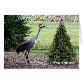 Desejando lhe o Feliz Natal Cartão De Nota