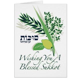 Desejando lhe um cartão abençoado de Sukkot