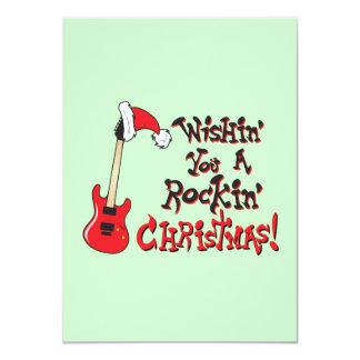 Desejando lhe um convite de balanço da guitarra do