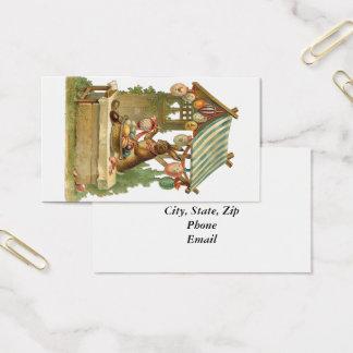 Desejando lhe um felz pascoa cartão de visitas
