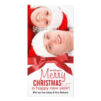 Deseje-lhe uma foto do casal do feriado do Feliz N Cartão Com Foto