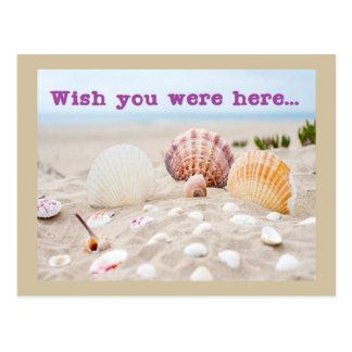 Desejo bonito você estava aqui cartão