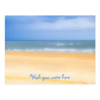 Desejo da praia você estava aqui cartão