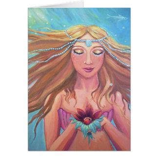 Desejo da sereia - cartão