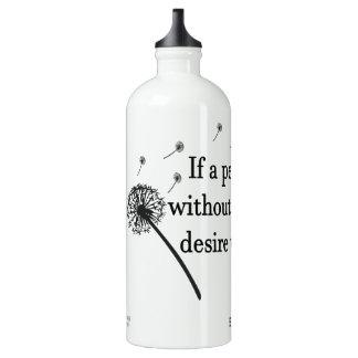 Desejo de alumínio da garrafa de água sem