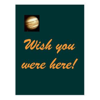 Desejo de Jupiter você estava aqui cartão