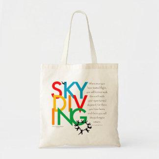 Desejo de Skydiving Bolsas De Lona