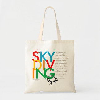 Desejo de Skydiving Sacola Tote Budget