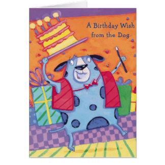Desejo do aniversário do cão - cartões