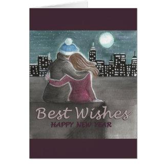 Desejo em um cartão de ano novo da estrela