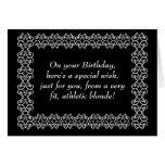Desejo especial do louro atlético cartões