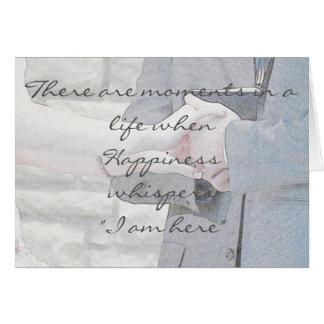 Desejo pre wedding cartão comemorativo