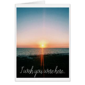 Desejo você estava aqui - cartão com fotos da