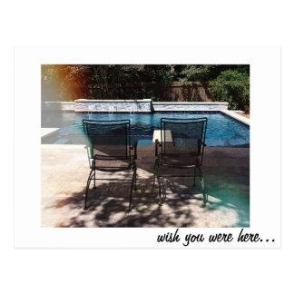 Desejo você estava aqui cartão das férias da cartão postal