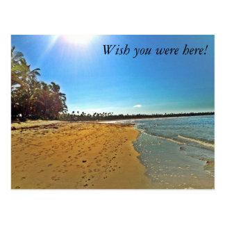 Desejo você estava aqui! cartão do Sandy Beach