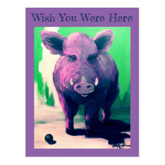 """""""Desejo você estava aqui"""" cartão VCollierArt do"""