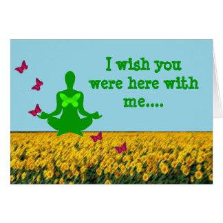 Desejo você estava aqui - cartões da ioga