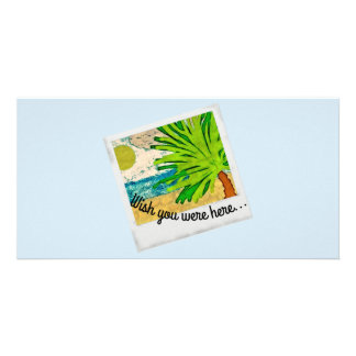 Desejo você estava aqui imagem cartão com foto