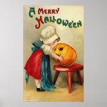 Desejos alegres do Dia das Bruxas Pôsteres