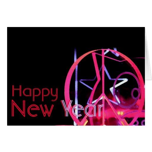 Desejos customizáveis do feliz ano novo 2014 - cum cartão