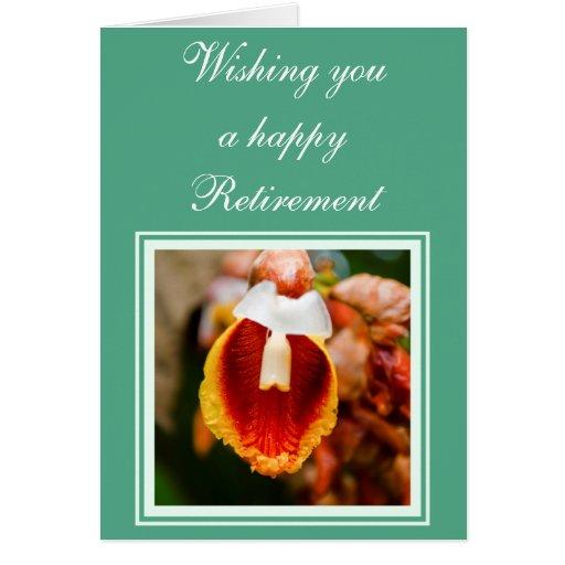Desejos da aposentadoria da flor cartão