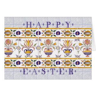 Desejos da páscoa cartão comemorativo
