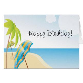 Desejos da praia cartão comemorativo