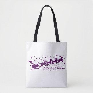 Desejos da sacola do Natal do papai noel Bolsa Tote