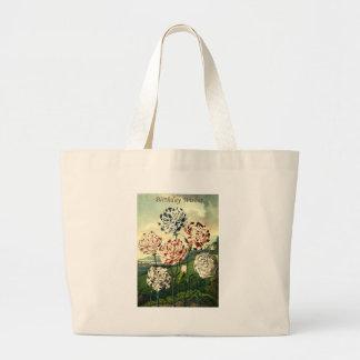 Desejos do aniversário - cravo listrado bolsa tote grande
