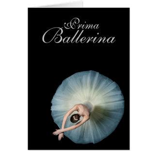 Desejos do aniversário da bailarina de Prima Cartão De Nota