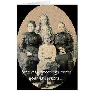Desejos do BD de seus antepassados Cartão Comemorativo