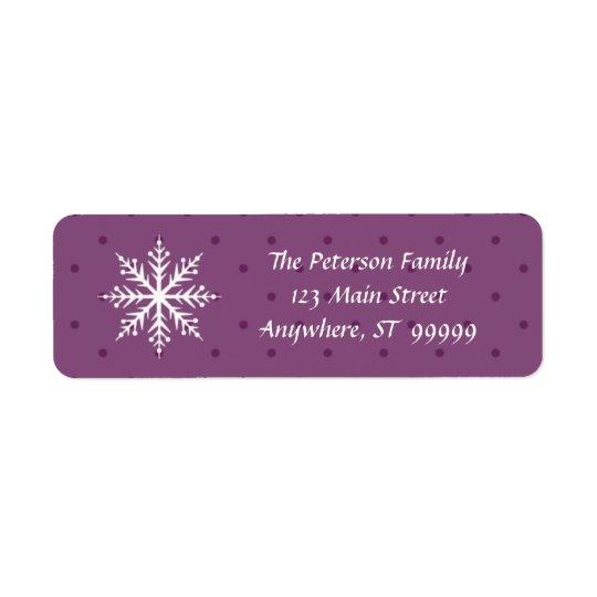 Desejos do feriado & beijos do floco de neve etiqueta endereço de retorno